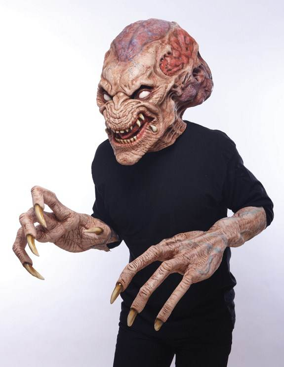 Pumpkinhead Mask & Hands Set